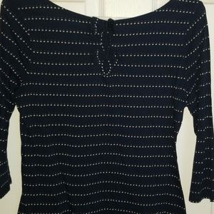 Polka Dot Navy blue blouse.
